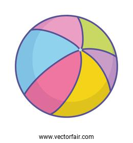 baby shower colorful rubber ball toy icon