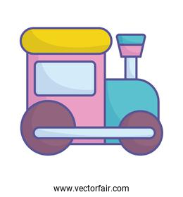 baby shower plastic train toy icon