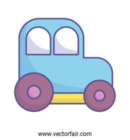 baby shower toy plastic car icon