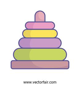 baby shower play pyramid toy icon
