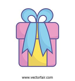 baby shower wrapped gift box surprise icon