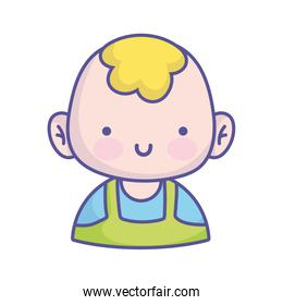 baby shower cute little boy character icon