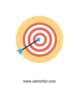 Isolated target icon block vector design