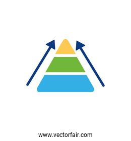Isolated workflow icon flat vector design