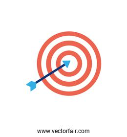 Isolated target icon flat vector design