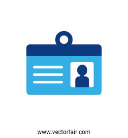 Isolated business id card icon flat vector design