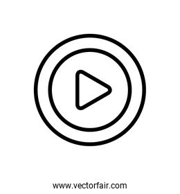 Play button line style icon vector design