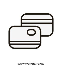 Isolated credit cards icon vector design