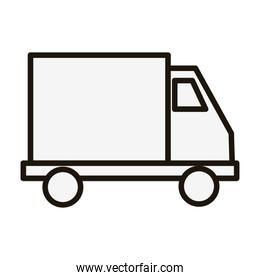 Isolated truck vehicle line style icon