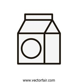 Isolated milk box icon vector design