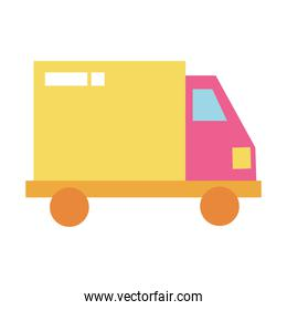 Isolated truck icon vector design