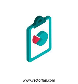 clipboard report chart advertising commerce marketing icon isometric