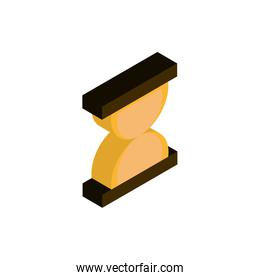 business hourglass advertising commerce marketing icon isometric