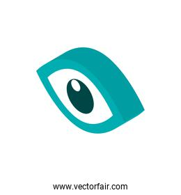 observation vision advertising commerce marketing icon isometric