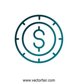 economy business money currency coin gradient line