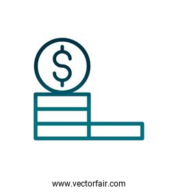 economy business stacked coins money growth gradient line