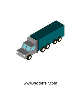 transport truck container vehicle isometric icon