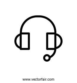call center service business headset microphone help line