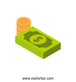ecommerce business internet money banknote and coins cash icon