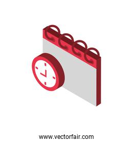 ecommerce business internet calendar and clock icon