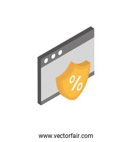 ecommerce business internet website sale offer icon