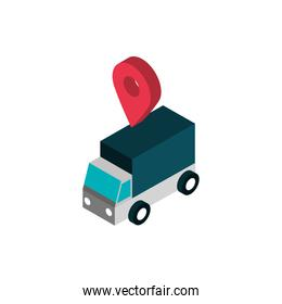 ecommerce business internet delivery truck location pin icon