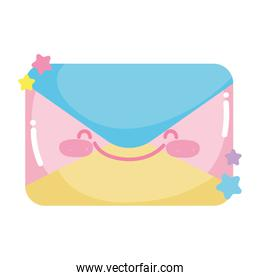 social networks cartoon email envelope message icon