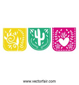 mexican garlands hanging decorative icons