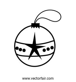 christmas ball hanging decorative icon