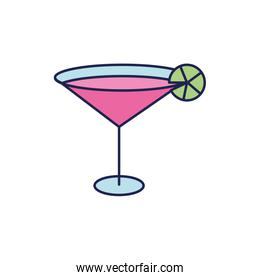 fresh martini cocktail drink isolated icon