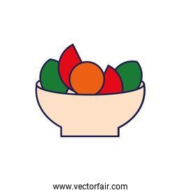 salad with fresh vegetables healthy food