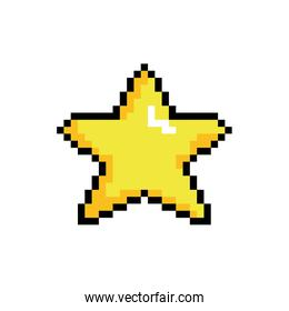 star 8 bits pixelated style icon