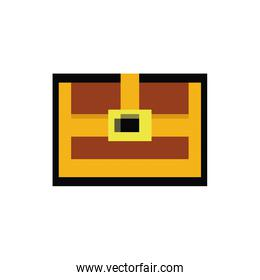 treasure chest 8 bits pixelated style icon