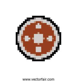 shield guard 8 bits pixelated style icon