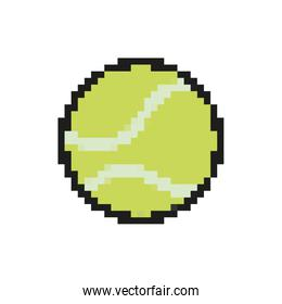 tennis ball 8 bits pixelated style icon