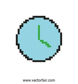 time clock 8 bits pixelated style icon
