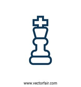 king chess piece child toy line style icon