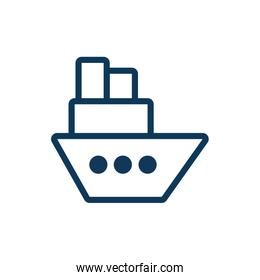 ship boat child toy line style icon