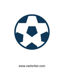 soccer balloon child toy fill style icon