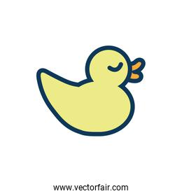 ducky child toy fill style icon