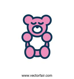 bear teddy child toy fill style icon