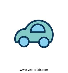 car child toy fill style icon