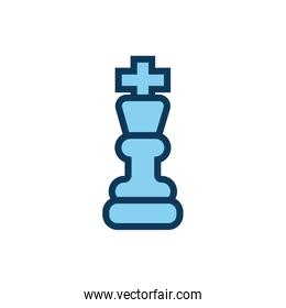 king chess piece child toy fill style icon