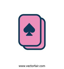 poker cards child toy fill style icon