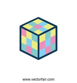 cube rubik child toy fill style icon