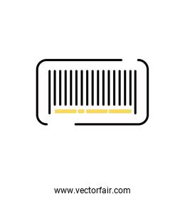bar code commercial isolated icon