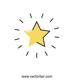 star quality symbol isolated icon