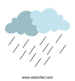 clouds rainy storm weather isolated icon