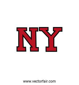 new york word fill style icon