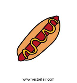 delicious hot dog fast food icon